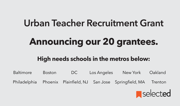 Awardees of the 2020 Urban Teacher Recruitment Grant